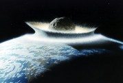 Did the dinosaur killing asteroid put a hole in the earth's crust?